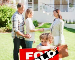 Realtor sells home with a great home warranty to young family.