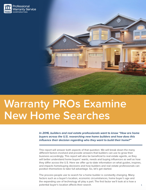 PWSC White Paper: New Home Searches