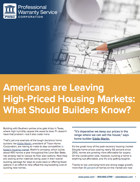 Home Builders & Buyers - High-Priced Housing Markets