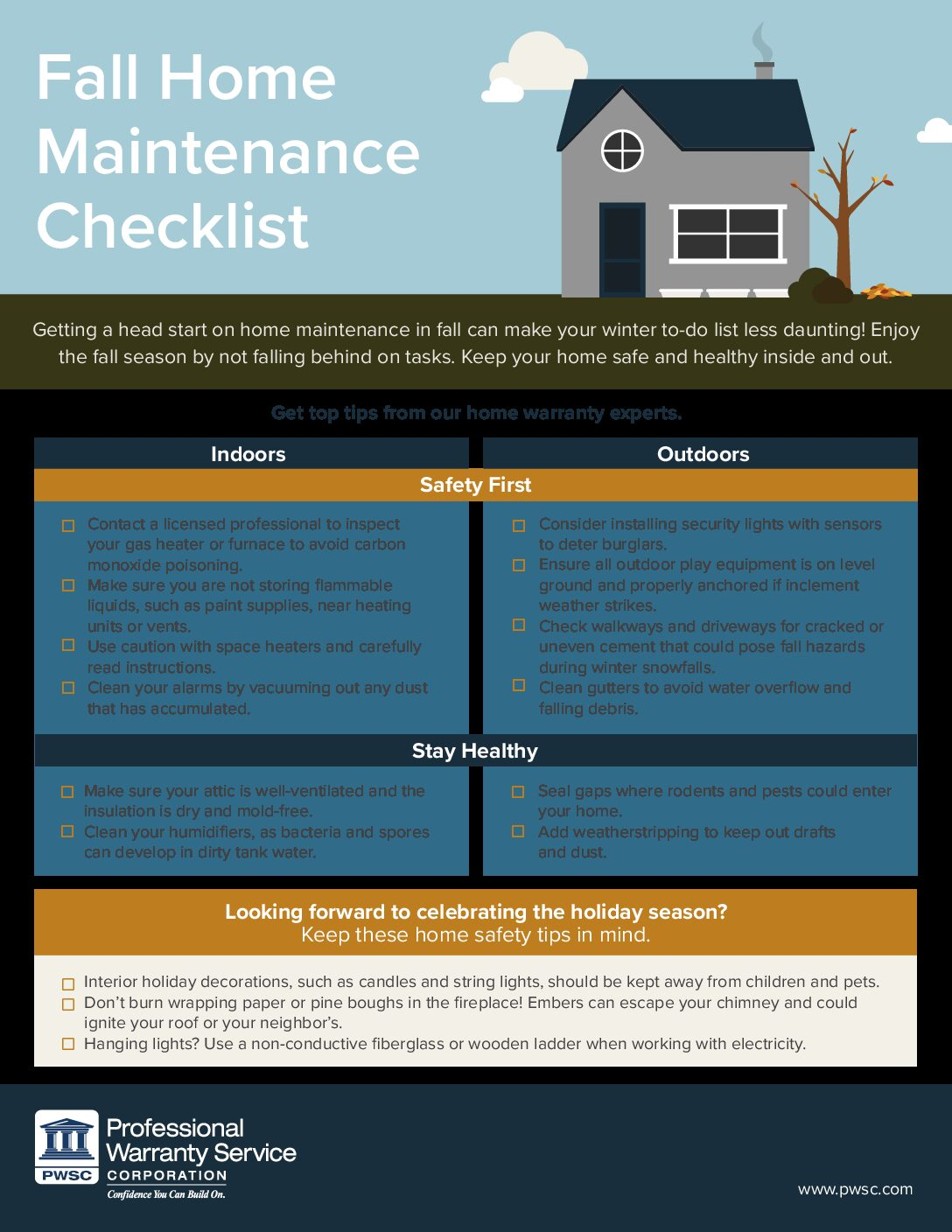 Fall Home Maintenance Guide - Professional Warranty Service