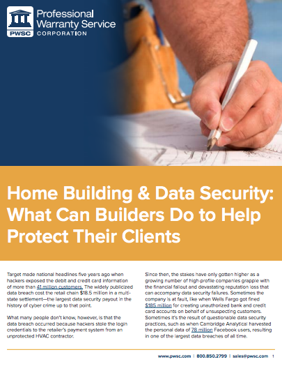 Home Building & Data Security
